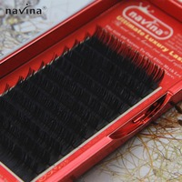 NAVINA Individual False Eyelashes Mink Eyelash Extension Cilios Posticos Fake Lashes Natural Brown Color Eye Lash