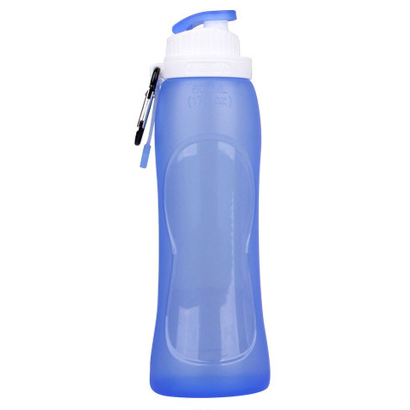2017 New Water Bottles Creative Silicone Foldable Sports Bottle Convenient Travel 100% brand new and high quality#0