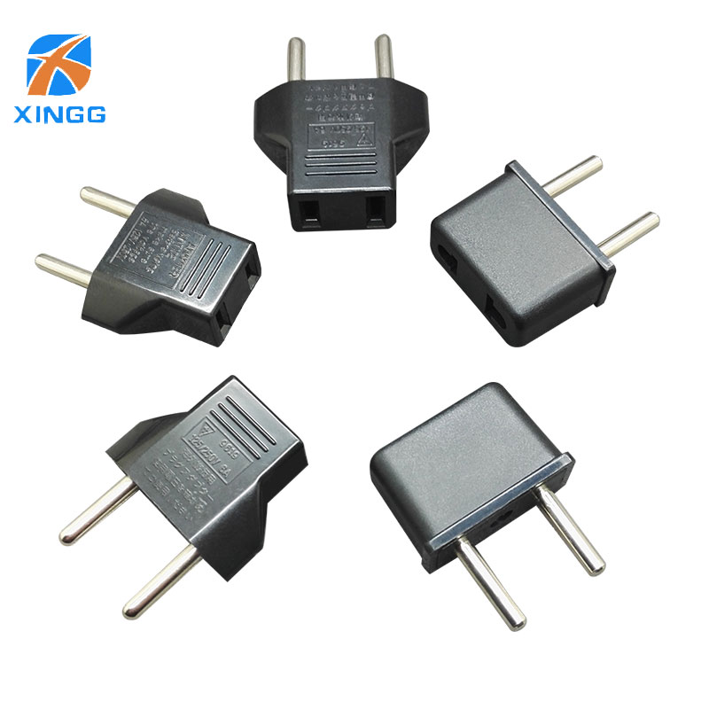 XINGG Eu To US Plug Adapter Euro AC Power Socket Male Electrical Converter Plug Europe US to Eu Plug Travel European wa0089 iec320 c20 to c14 adapter c13 to c19 ac plug converter ac converter pdu ups plug converter wpt605