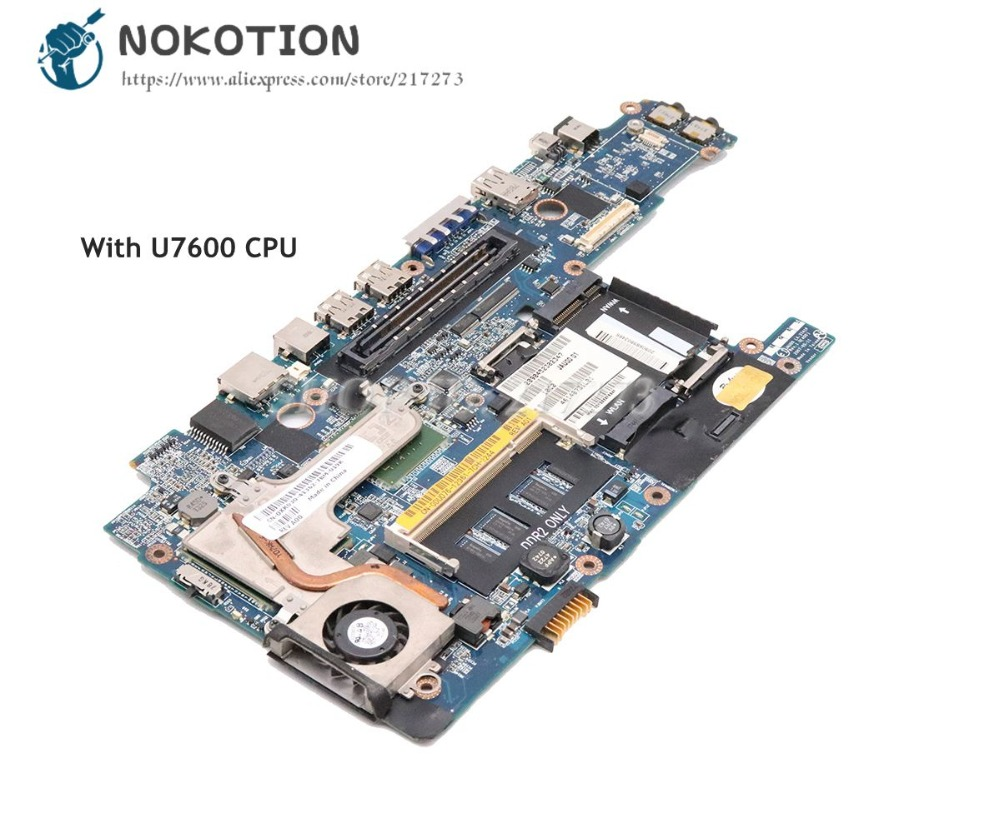 NOKOTION For Dell Latitude D430 Laptop Motherboard JAU00 LA-3741P CN-0DU076 0DU076 MAIN BOARD 945GSE U7600 CPU DDR2