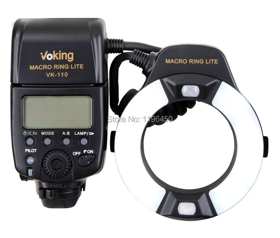 Voking TTL Flash D'anneau Macro VK-110C pour Canon 1100D 700D 650D 600D 550D 500D 450D 7D 6D 5D Mark ii iii T5i T4i T3i Appareils PHOTO REFLEX NUMÉRIQUES