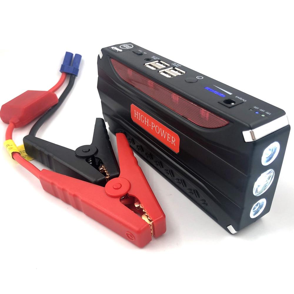 Voiture saut démarreur batterie externe Portable voiture batterie Booster chargeur 12 V dispositif de démarrage 3.5L essence 3L Diesel voiture démarreur 4 USB