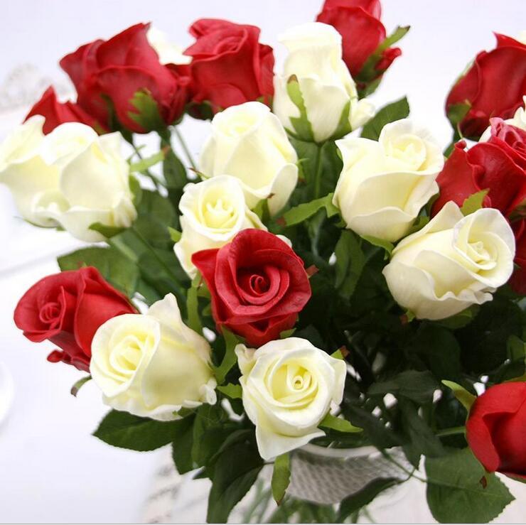 PU 선택의 여지가있는 무료 합성 우드 꽃 장식 판매 결혼 선물 장식 사무실