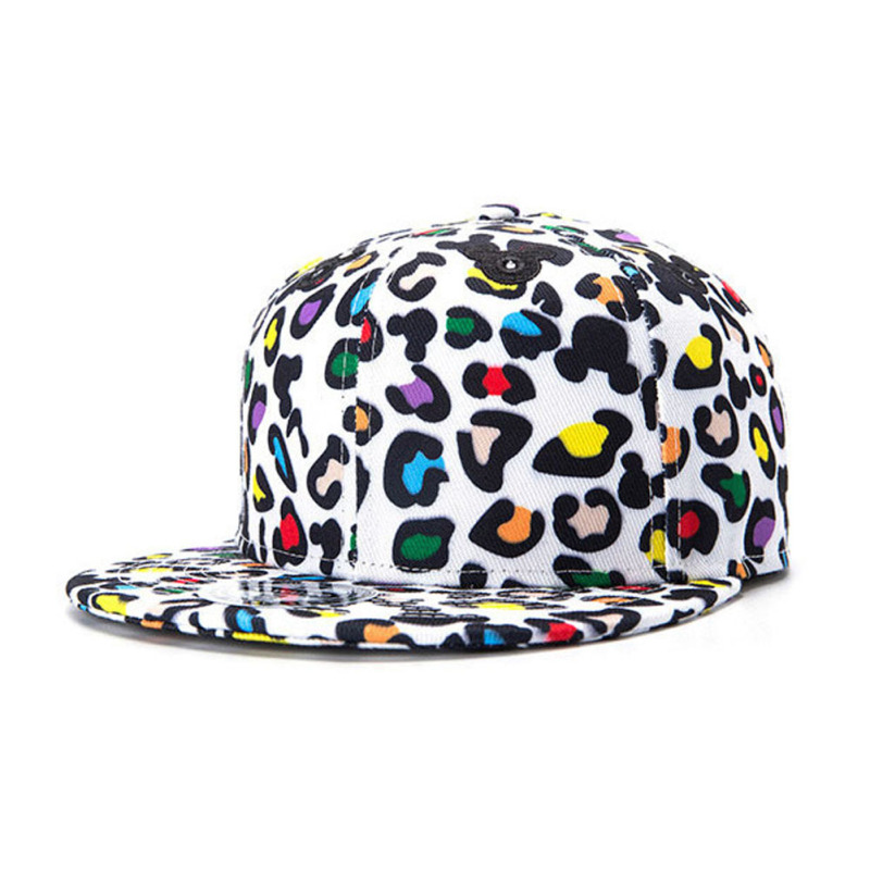 Unisex Baseball Print Snapback Caps Summer Hip Hop Dot Caps Leopard Print Caps For Man Streetwear