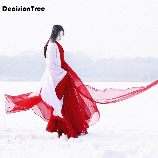 2019 summer hanfu stage clothing costume traditional dance chinese costume women's hanfu dresses chinese dance costumes