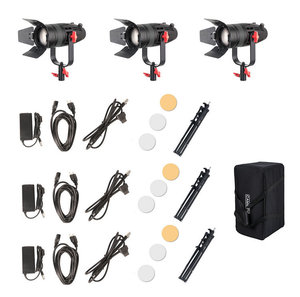 Image 5 - 3 Pcs CAME TV Boltzen 30w פרנל Fanless Focusable LED אור יום ערכת עם אור עומד Led וידאו אור