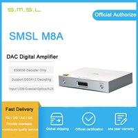 SMSL M8A родной DSD512 usb плеер с ЦАП es9038q2m PCM768kHz xmos/оптический/коаксиальный/USB Вход RCA Выход HIFI декодер