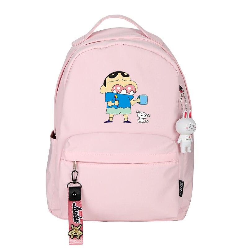 Crayon Shin-chan Printing Backpack Kawaii Children School Bags Candy Color Women Cute Backpack Travel Backpack Ainme BagpackCrayon Shin-chan Printing Backpack Kawaii Children School Bags Candy Color Women Cute Backpack Travel Backpack Ainme Bagpack