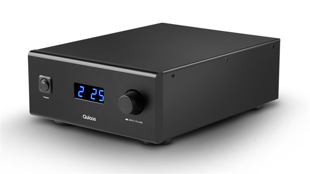 QLS HIFI QA690 Pure Full Digital Audio Amplifier Input PC USB/Coaxial*2/Optical/RCA Power Handle 160W*2 Support DSD 24Bit/192KHz 2