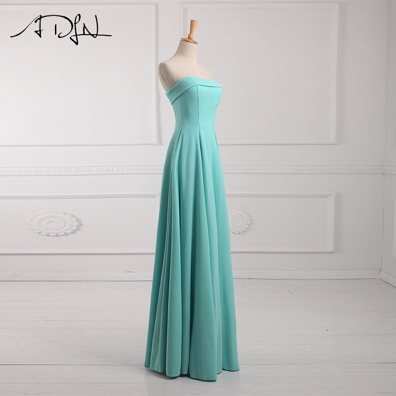 ADLN Strapless Long Bridesmaid Dresses vestido madrinha longo robe de demoiselles d honneur pour mariage imported party dress 11