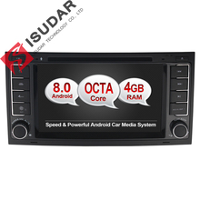 Android 8.0 Two Din 7 Inch Car DVD Player Stereo System For Touareg/Volkswagen With Octa Cores 4G RAM WIFI Radio GPS Navigation