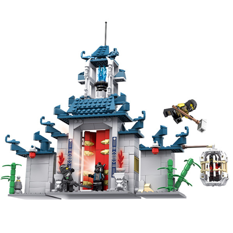 482PCS Movie Temple Of The Ultimate Weapon Building Blocks Bricks Legoings Ninjagoes Educational Toys For Children Gifts DBP547 technic mini legoinglys ninjago movie figures temple of the ultimate weapon blocks stone temple lion toys for children