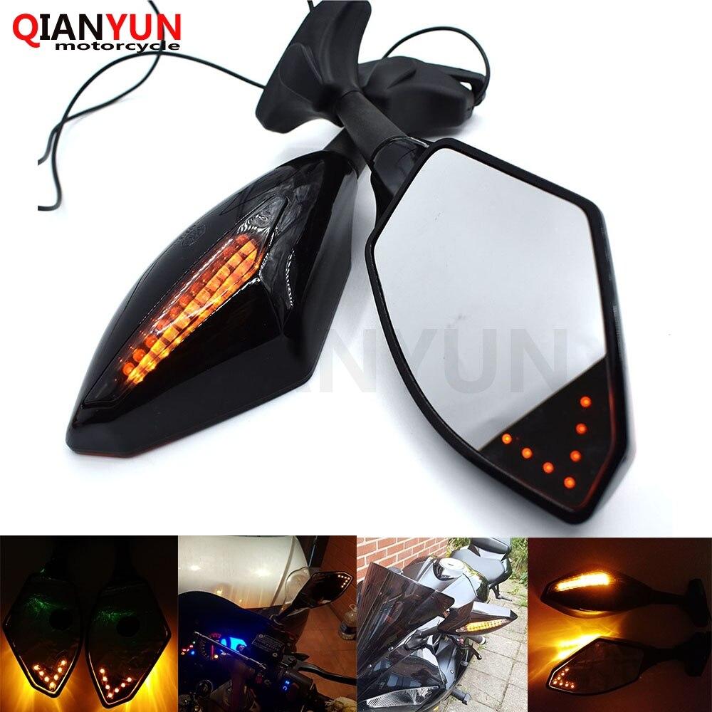 Rétroviseurs latéraux universels pour moto avec clignotant LED pour Honda CB 599 919 400 CB600 HORNET CBR 600 F2 F3 F4
