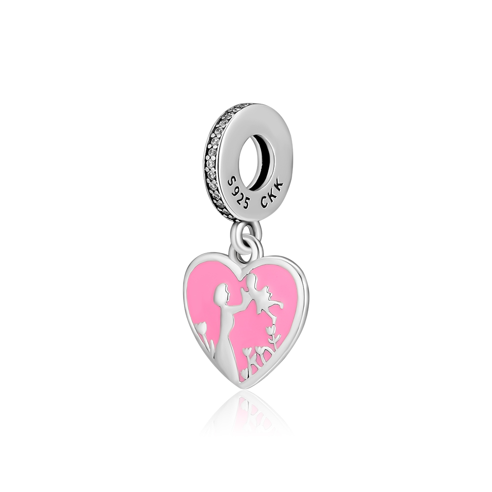 CKK 925 Sterling Silver Mother Love Beads Suitable For Original Pandora Female Charm Bracelet Silver Jewelry in Beads from Jewelry Accessories