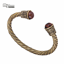 My Shape Opening Viking Bangle Vintage Teen Cuff Bracelet Men Bracelets Bangles for Women Pagan Jewelry Accessories