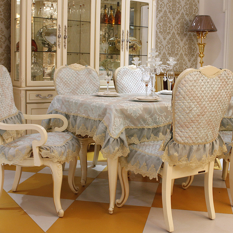 Top grade fashion dining table cloth chair covers cushion tables and chairs bundle chair cover rustic lace cloth set tablecloth