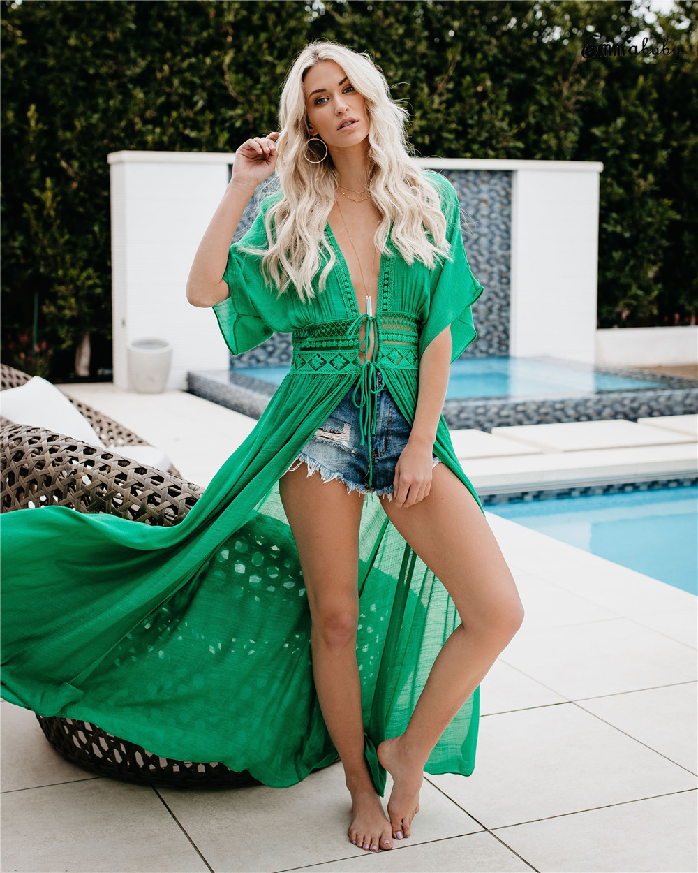 Women Chiffon Bikini Long Cover Up Summer Beach Dress Cardigan Long Cover-up Beachwear Beachdress Bathing Suit 2019 Fashion New