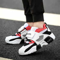 LZJ New 2019 Men High Top Breathable Sneakers Male Vulcanized Shoes Mixed Color Sneakers Men PU Bottom Shoes for Men Zapatillas