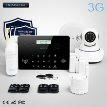 HOMSECUR Wireless LCD 3G WCDMA RFID Burglar Alarm System Wireless IP Camera LC03 3G