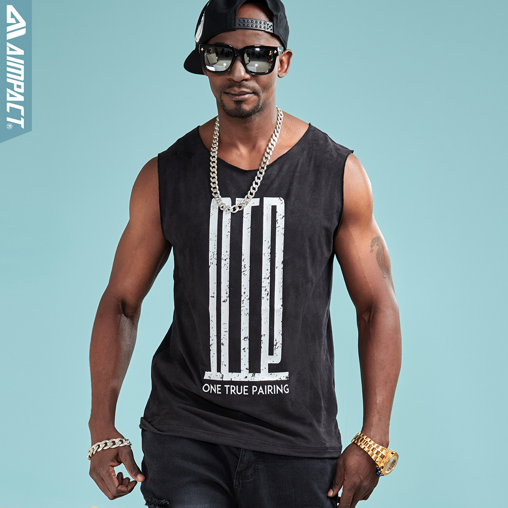 Aimpact Fashion Soft Tank Top Men Hip Hop Comforty OTP Sleeveless tShirts Sexy Male Fitness Brand Clothing Activewear Tee AM1029