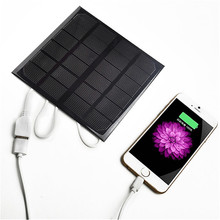 6V 3W 600MA Power Bank Solar Panel USB Travel Battery Charger for Mobile Phone цена 2017