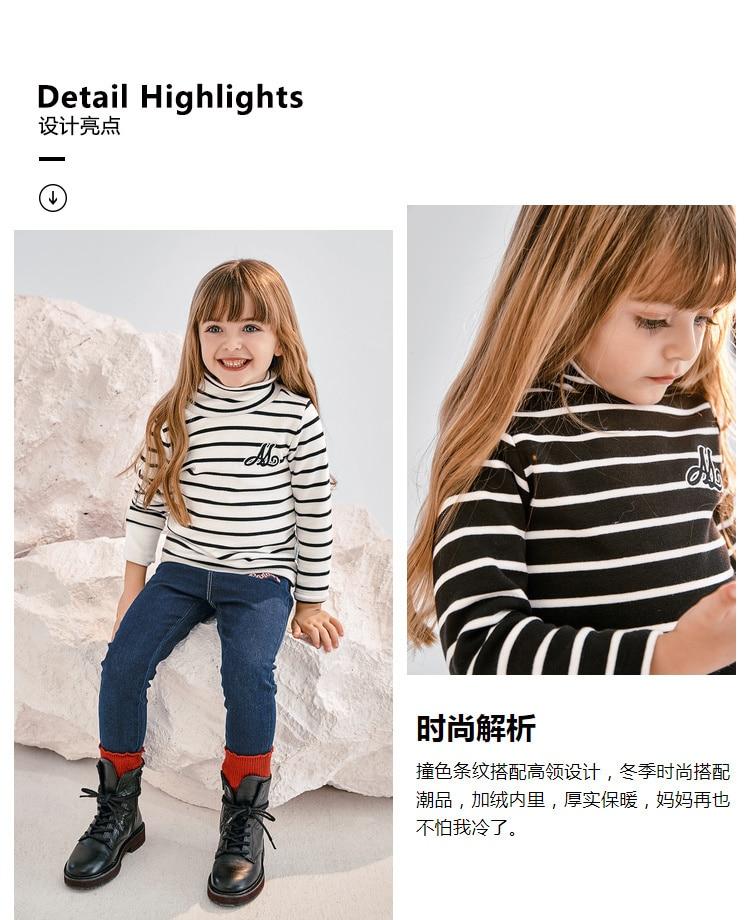 393c7004f 🛒 Mini Balabala Baby Girls Long Sleeve Tee Tops Toddlers High Neck ...