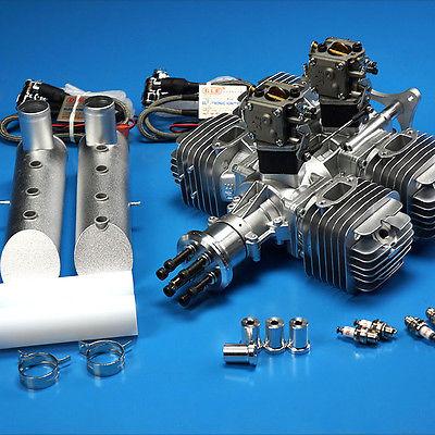 DLE Motore A Benzina DLE222 220CC W/Igniton Elettronico & Silenziatore Per RC Airplane 4.8 V-8.4 V Nuovo versione
