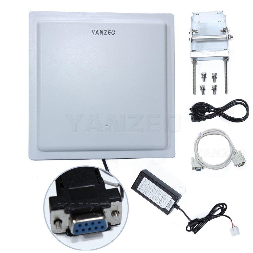 Yanzeo SI801 UHF RFID lecteur 15-30 m longue portée extérieure IP67 12dbi antenne RS232/RS485/Wiegand sortie UHF lecteur intégré