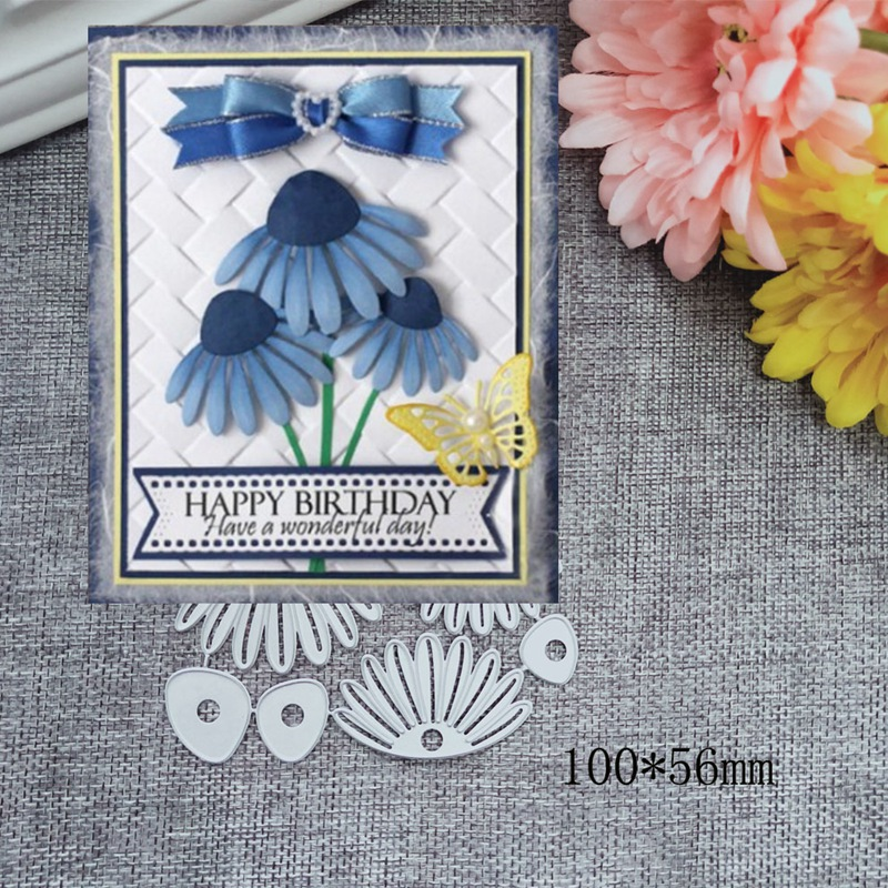New Petal Flower Metal Cutting Dies for Scrapbooking DIY Album Embossing Folder Paper Cards Maker Template Decor Stencils Craft in Cutting Dies from Home Garden