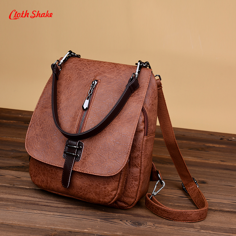 zooler backpack casual 2017 new high quality woman leather backpacks school bag red pots designed backpack mochila d118 New Women Backpacks PU Leather Female Shoulder Bag Backpack High Quality Women Bag College Wind School Bag Backpack Girl Mochila