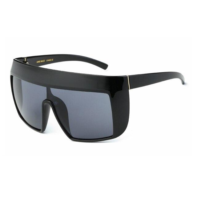 b7732a3bdc 2017 New Sunglasses Oversize women sunglasses Large frame reflective  Sunglasses Wind Men Sun Glasses Retro square sunglasses