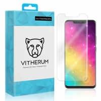 AQUA Premium 3D Curvo Pieno Trasparente In Vetro Temperato (UV Fissazione) per Huawei Compagno di 20 Pro