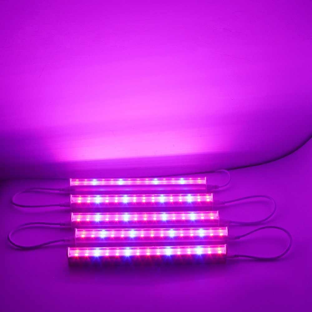 Полный спектр привело светать t5 светодиодные трубки комнатное растение гидропоники Системы парниковых Палатка лампы цветок роста растений 110 В 220 В