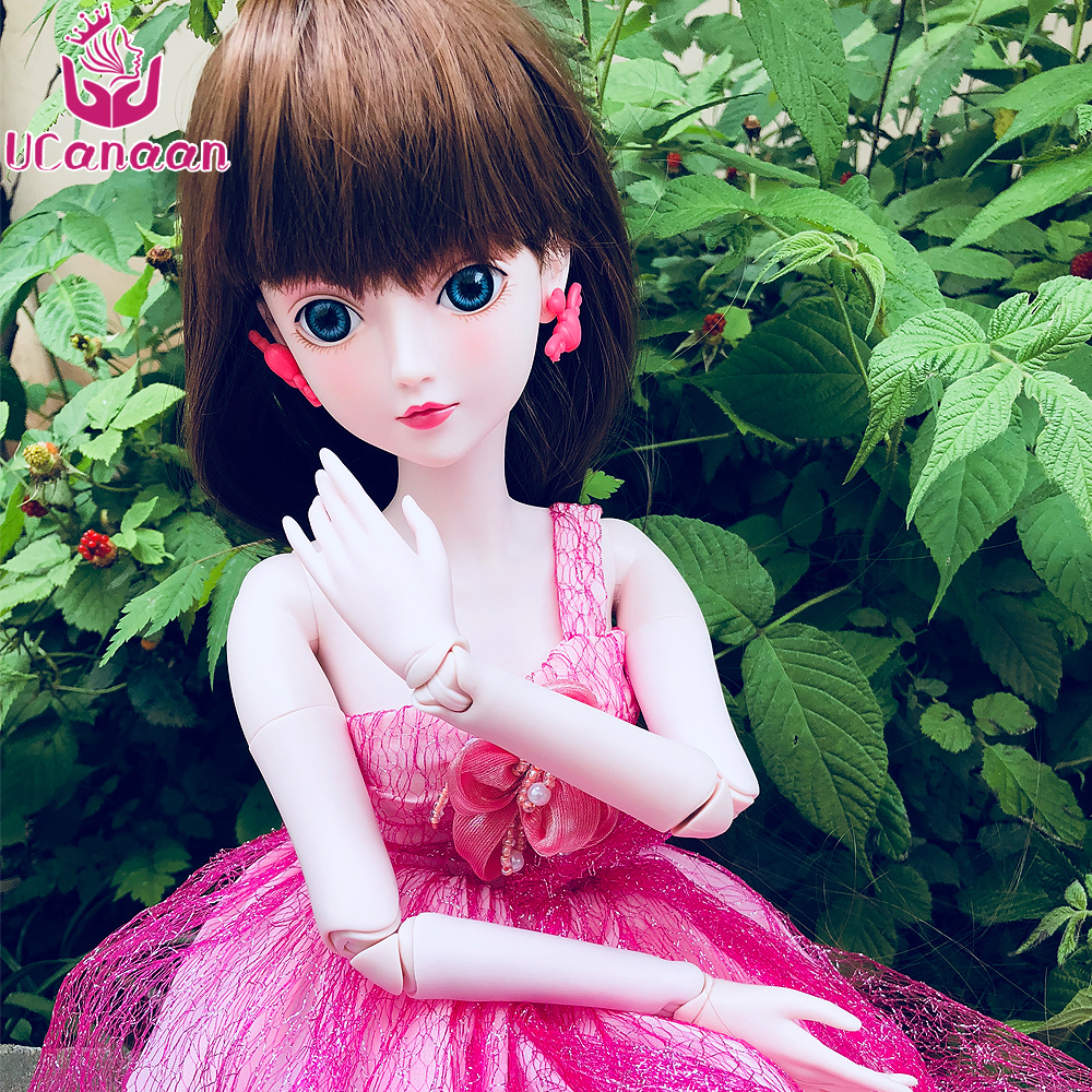 купить Ucanaan 1/3 Large BJD/SD Doll 60CM 19 Jointed Cute Flower ManLi (Free Eyes+Hair+Makeup+Clothes+Shoes) Dream Girl's Best Gift по цене 5439.12 рублей