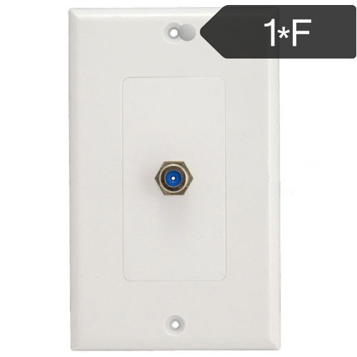 1 Port Television Satellite Wall Plate Rca Coax Cable