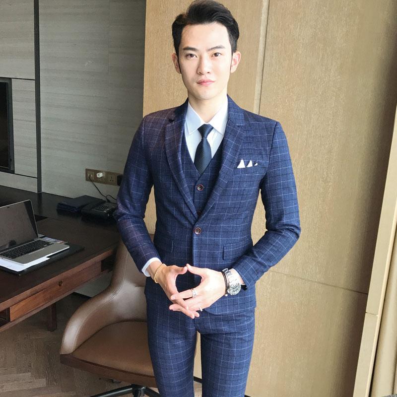 Pants Jacket Vest Men S Suits Blazer Wedding Banquet Gentleman