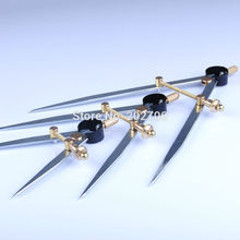Высокое качество 4 дюймов 6 дюймов 8 дюймов регулируемое для крыла разделитель краев Creaser DIY кожа ремесло инструмент