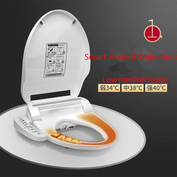 Смарт подогревом унитаза Горячая Тип wc sitz Интеллектуальный Автоматический туалет крышка Электрический крышка биде женщины ребенок