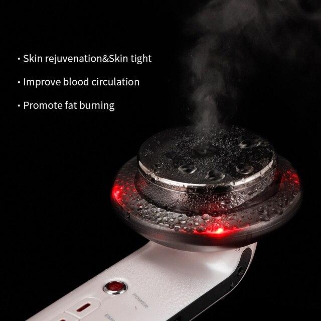New Ultrasound Cavitation EMS Face Body Slimming Massager Lipo Fat Burner Machine Galvanic Infrared Ultrasonic Weight Loss Tools 4