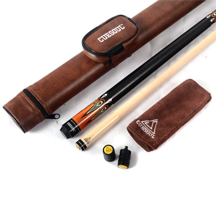CUESOUL Billiard Pool Cue with Brown Cue Case & Clean Towel wibe плавный поворот для лотка 400 w10s 400 код 716837