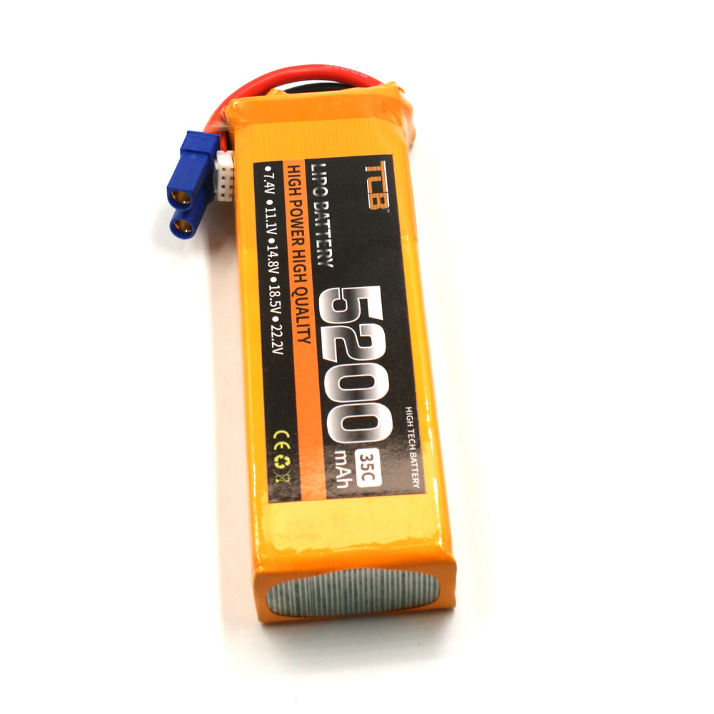 TCB 11.1V 5200mAh 35C 3S RC Lipo Battery for RC Airplane Car Boat Helicopter RC high-rate cell 3S Batteria