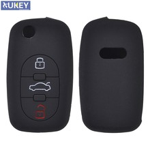 3 Button Silicone Car Remote Key Fob Shell Cover Case For Audi A2 A3 S3 A4 S4 RS4 A6 S6 A8 S8 TT Roadster Cabriolet 1997-2006(China)
