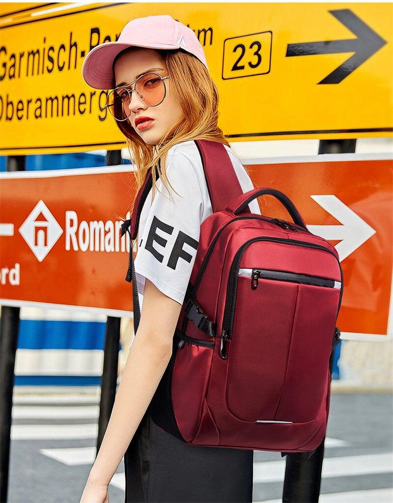 Nesitu imperméable grand grand Oxford noir rouge 14 ''15.6'' ordinateur portable hommes femmes sac à dos sacs de voyage sac d'école de haute qualité M8806