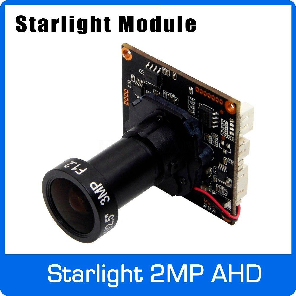 Starlight 1080 P AHD Caméra Conseil Module avec F1.2 4mm Lentille et UTC Coaxial OSD Contrôle utiliser SONY IMX291 Capteur Livraison gratuite