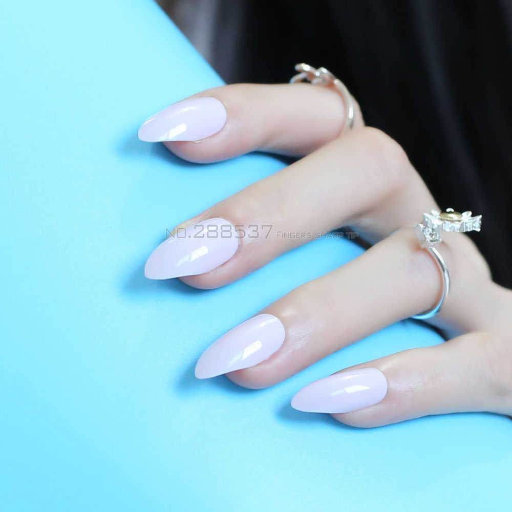 Pure colour New mountain peak Designs Pink Artificial nail Fashion ...
