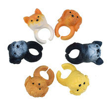 6pcs/lot Different Cute Dogs Model Finger Puppet Toy for Kid Gift