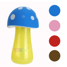 Cartoon Mushroom Lamp Humidifier USB Touch LED Night Lights Lighting Air Purifier for Car Bedroom Office Children's room