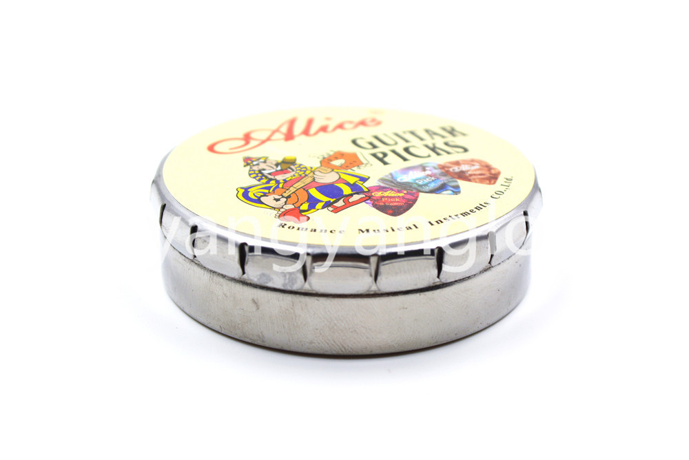 Alice Big Round Metal Pick Holder Case Box 20pcs Pearl Celluloid - Երաժշտական գործիքներ - Լուսանկար 6
