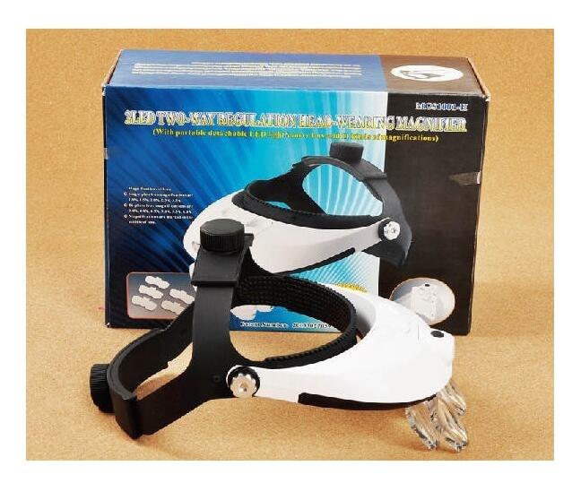 Multi Power LED Iluminación Diadema manos libres Lupa Casco Lupa - Instrumentos de medición - foto 6