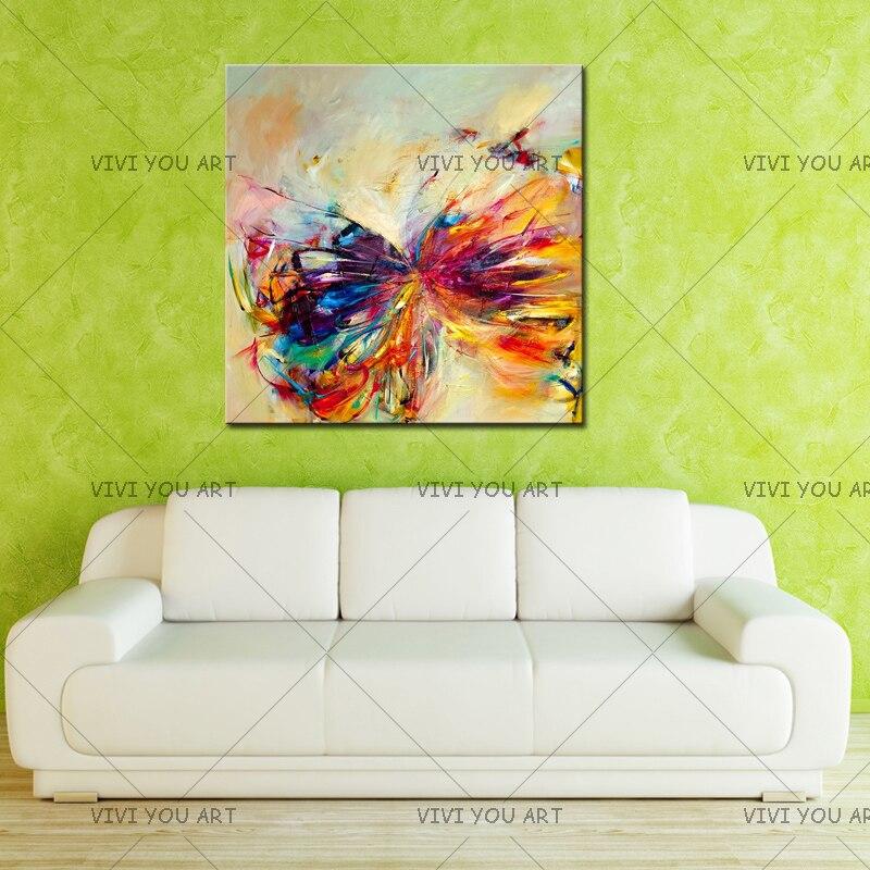 Pintura al óleo sobre lienzo arte de la pared decorativa abstracta - Decoración del hogar - foto 5